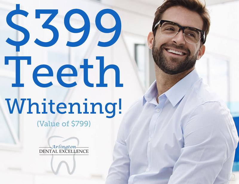 Teeth whitening discount-Arlington Dental Excellence-Dr. Laith