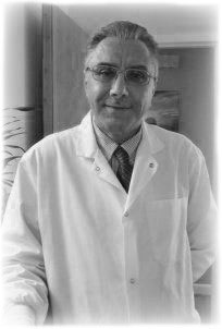 black and white photo of Dr. Ghanim