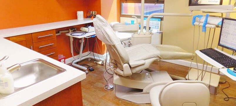 dental chair and work space