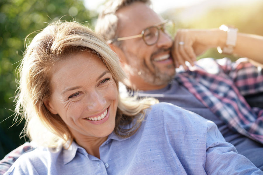 older couple smiling dental implants arlington va