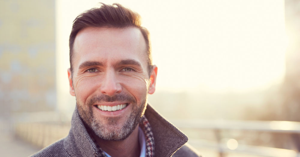 man smiling | arlington dental implants